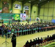 مراسم افتتاحیه لیگ فوتسال کارکنان و دانشجویان دانشگاه و تقدیر از مقام آوران