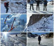 صعود زمستاني تيم همدان به قله سبلان از مسير يخچال شمالي