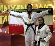 تصاویری از حضور بانوان همدانی در بيست و پنجمين دوره مسابقات قهرماني جهان هانمادانگ 2017 کره جنوبی